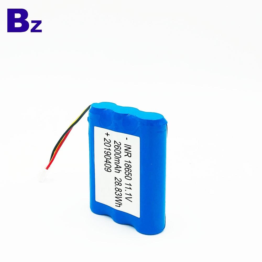18650 3S 2600mAh 11.1V 충전식 리튬 이온 배터리