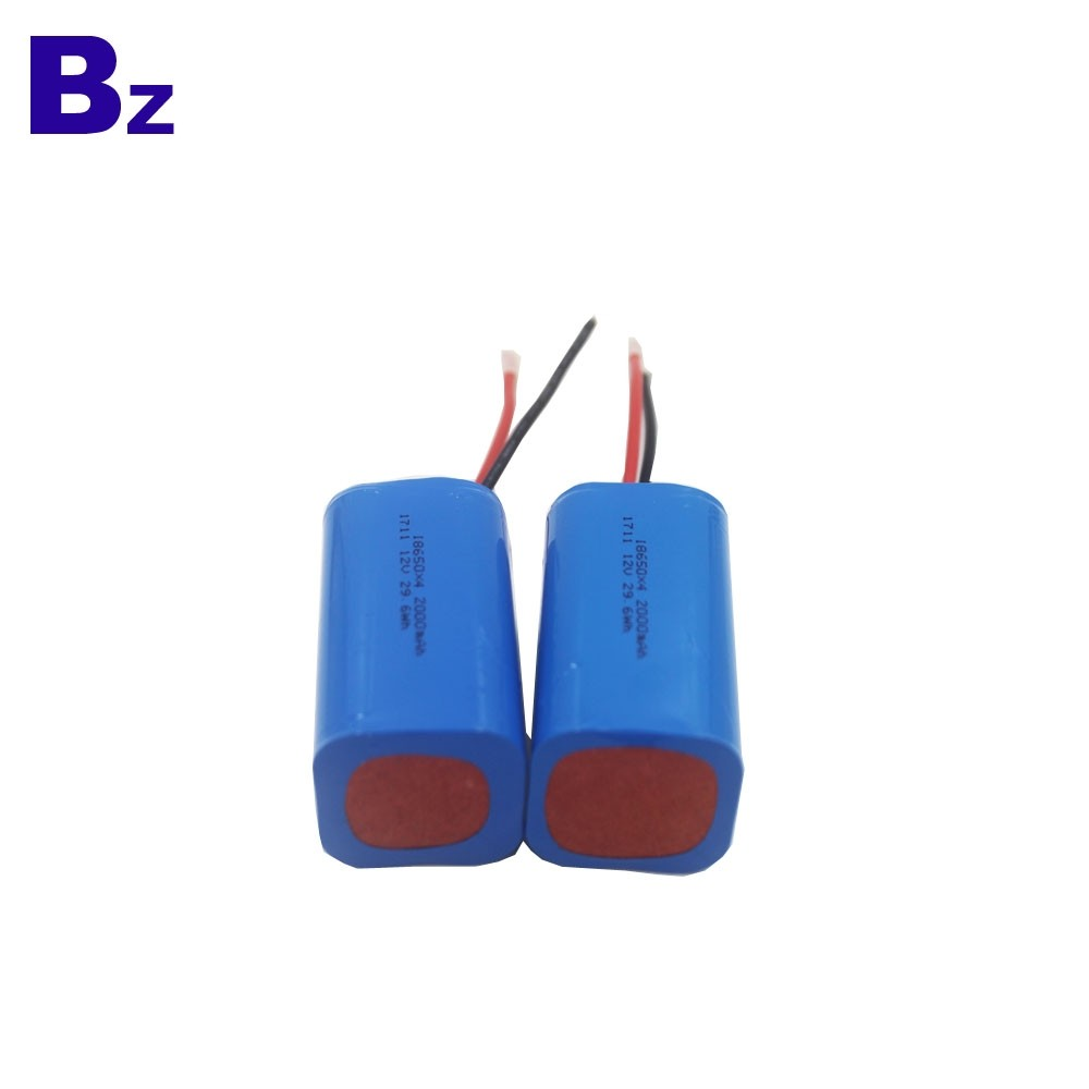제조 업체 OEM 원통형 배터리 BZ 18650 4S 2000mAh 14.8V 충전식 리튬 이온 배터리