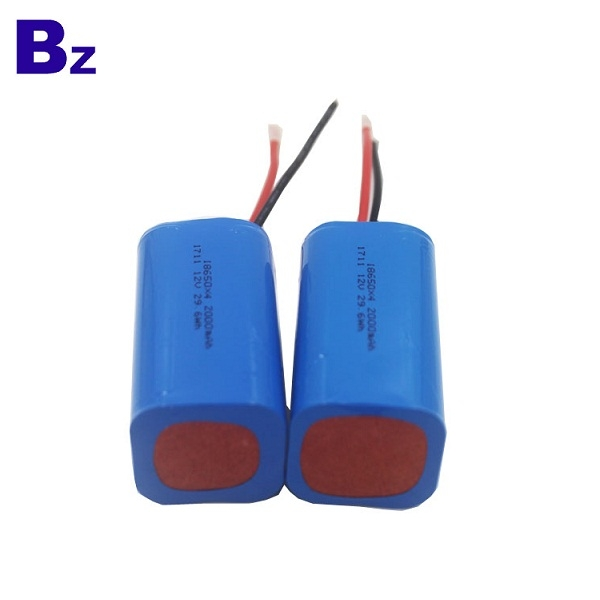 OEM 원통형 배터리 BZ 18650 4S 2000mAh 14.8V 충전식 리튬 이온 배터리
