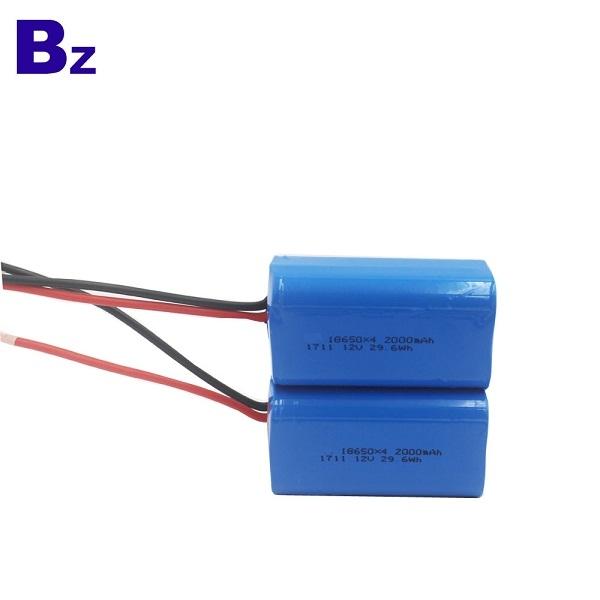 원통형 배터리 BZ 18650 4S 2000mAh 14.8V 충전식 리튬 이온 배터리