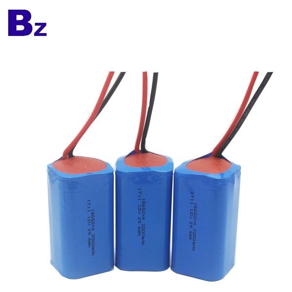 BZ 18650 4S 2000mAh 14.8V 충전식 리튬 이온 배터리