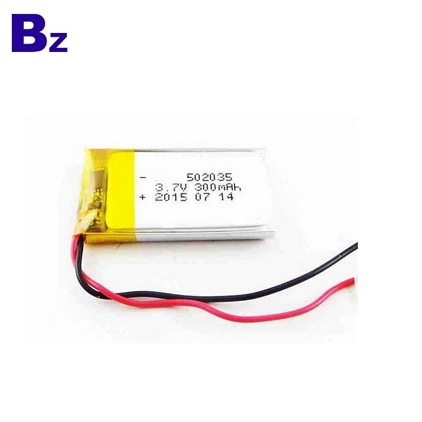 300mAh 3.7V 폴리머 리튬 이온 배터리