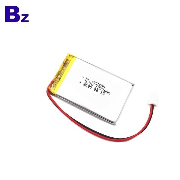 경보 시스템 장치 1200mAh 3.7V Lipo 배터리