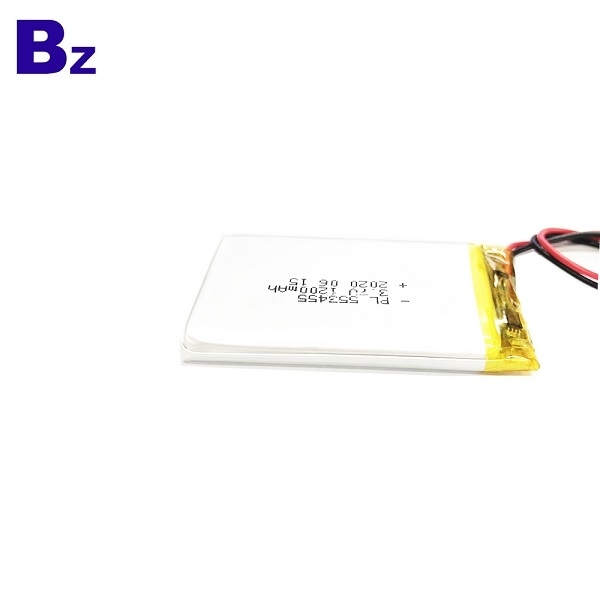 553455 1200mAh 3.7V 리튬 폴리머 배터리