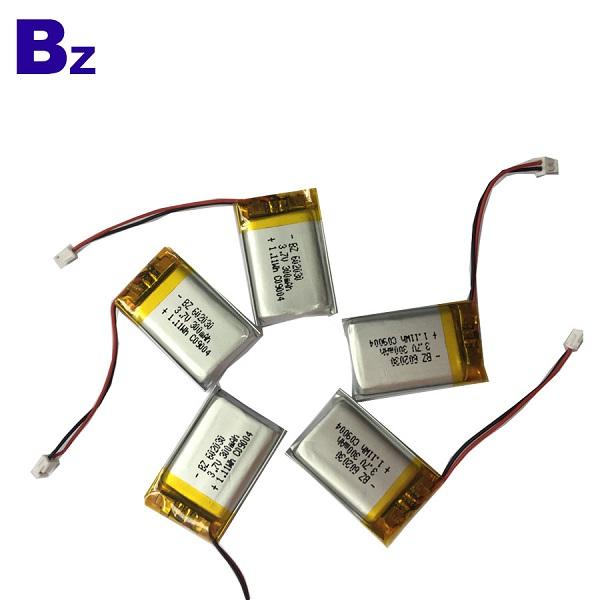 300mAh 3.7 v 리튬 폴리머 배터리
